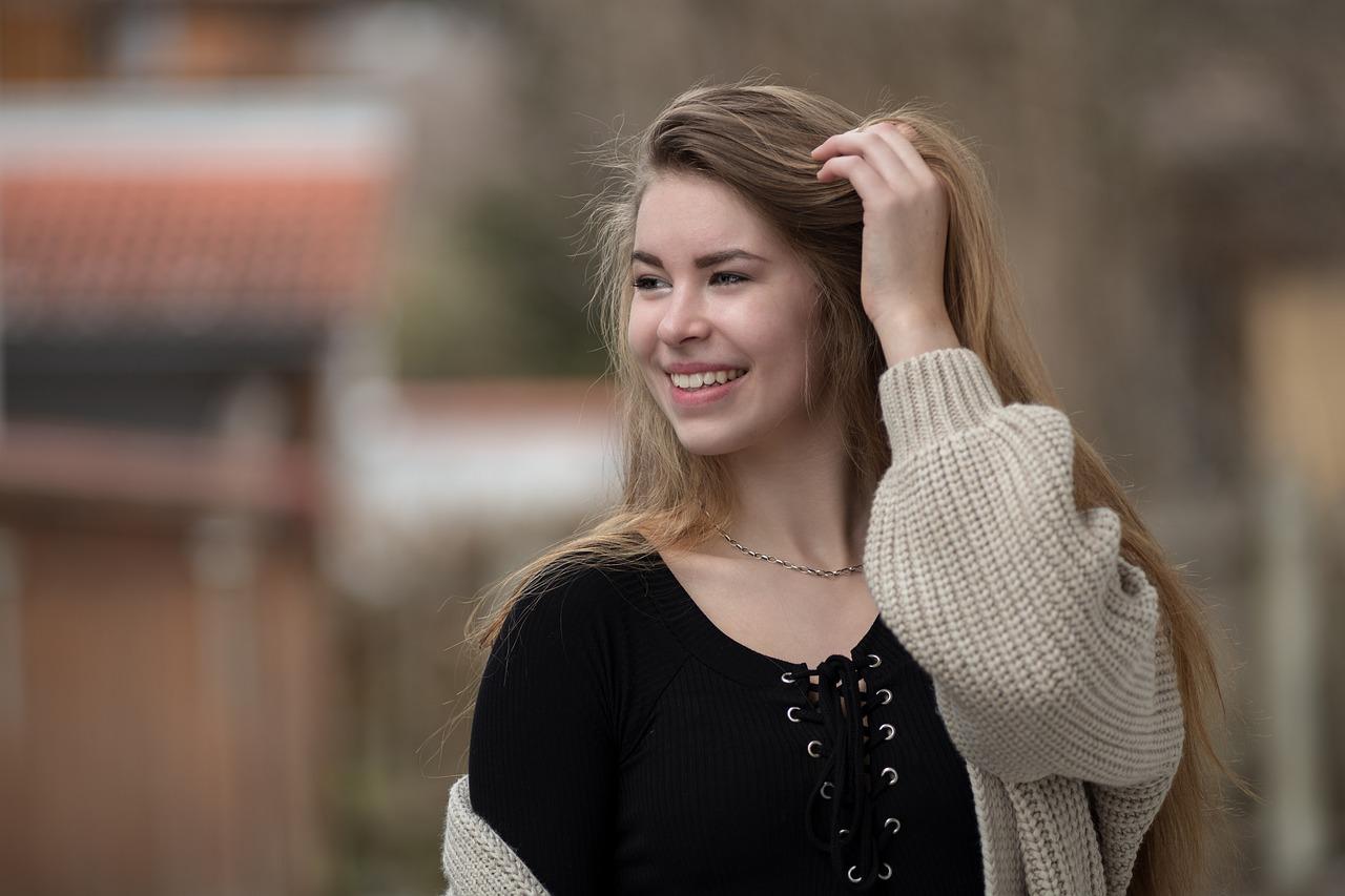 smiling Russian girl