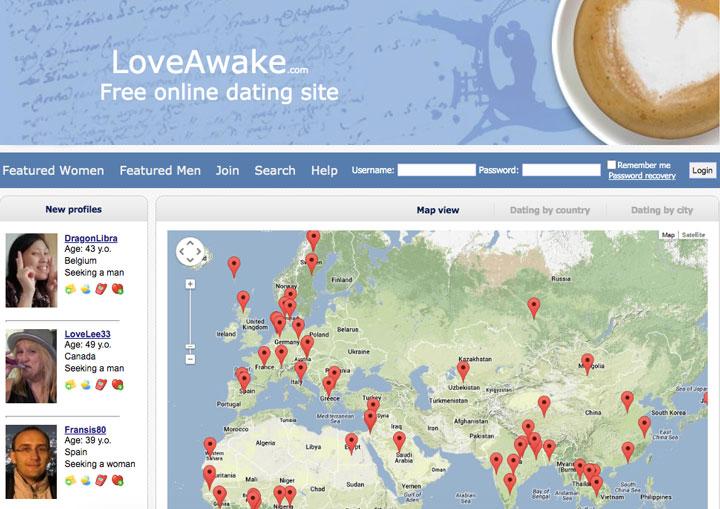 LoveAwake main page