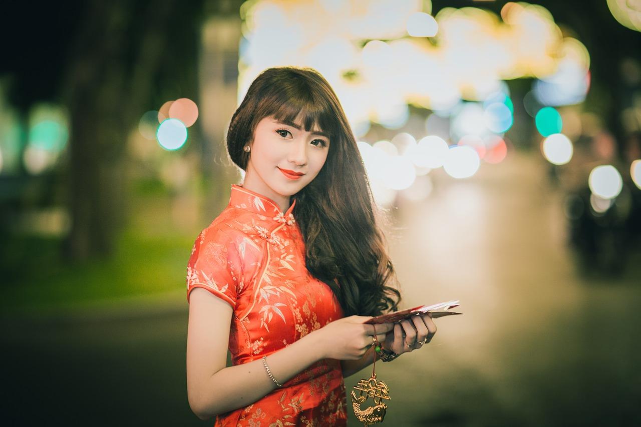 tender asian woman