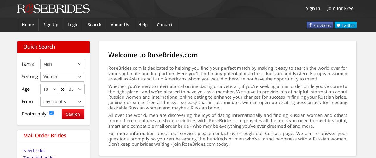 main page RoseBrides.com