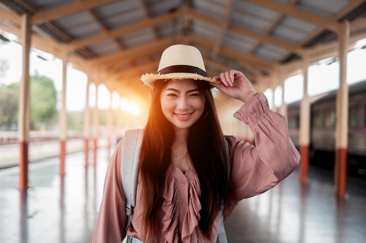 smiling asian girl