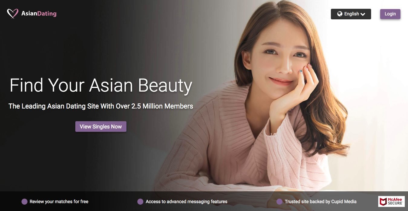 AsianDating main page