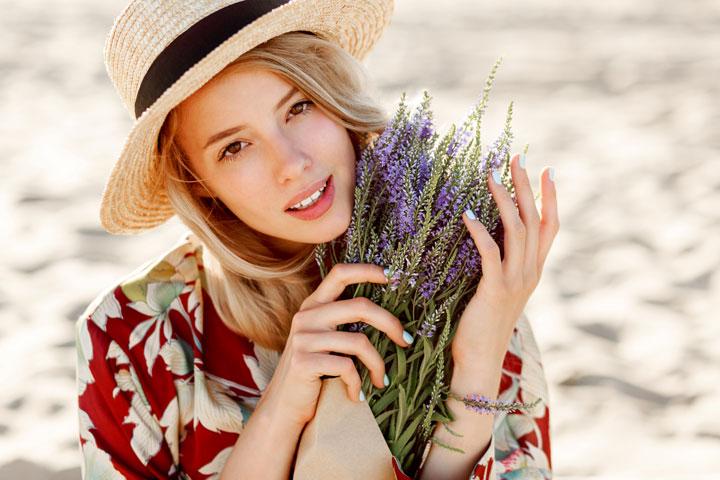 Ukrainian beauty lovely romantic blond-girl