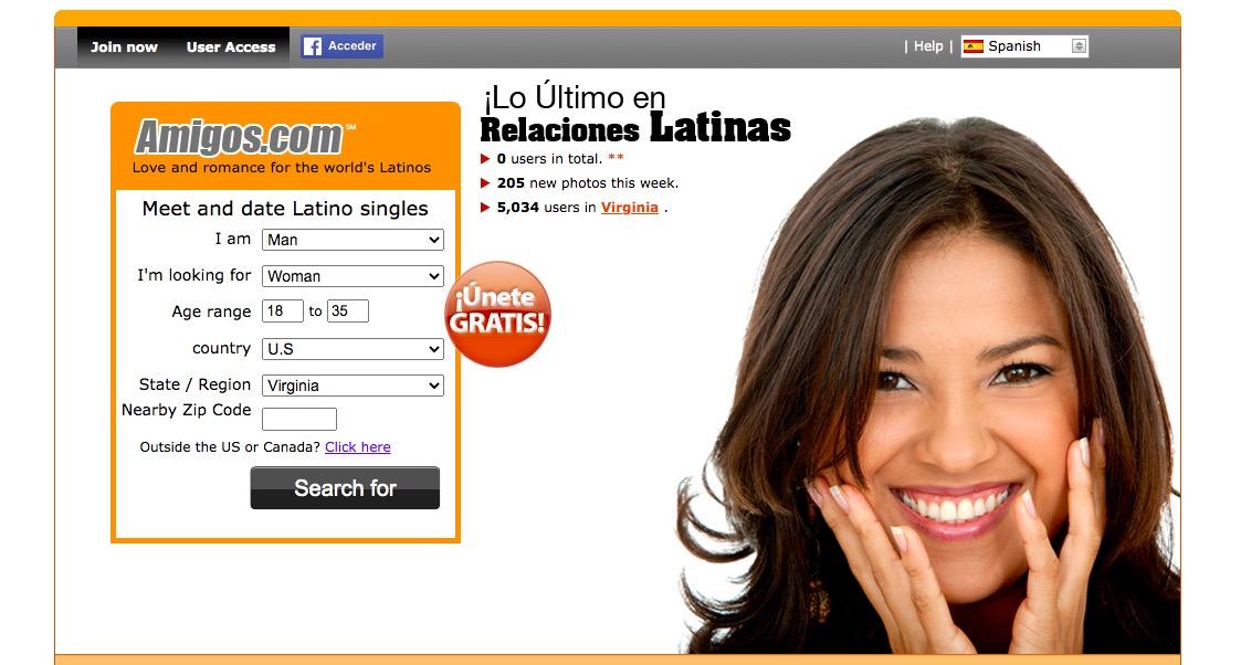 Amigos main page